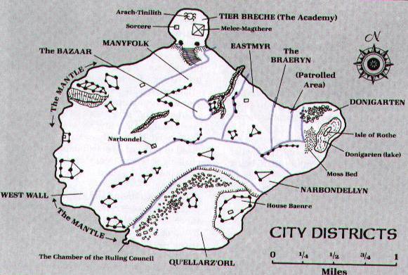 drow Mappa di Menzoberranzan - Autore ignoto Pubblicazione incerta © dell'autore